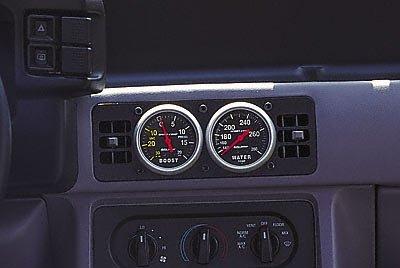 Auto Meter 50102 Gauge Works Dual Gauge Cage - Mustang Dual Pod