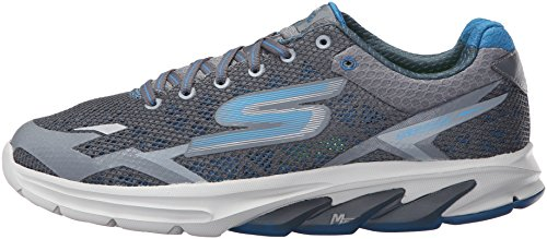 Skechers Mens Go Meb Strada 2 Breathable Cushioned Track Running Shoes Charcoal / Blue