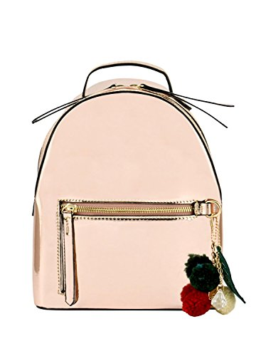 Jual LANY  Matilda  Metallic Faux Patent Leather Backpack - Casual ... 12165a404a