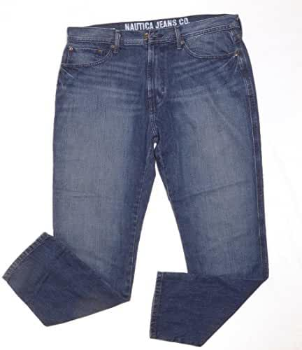 Nautica Jeans, Core Edv Loose Medium Cross Hatch, Crossed Indigo