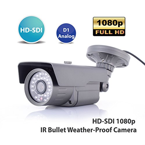 Hd Sdi Video - SDI CAMERA, HD-SDI 2.1MP 1080P CCTV Security Outdoor Bullet Type SDI Camera, Fixed Focus 3.7mm HD Lens, 30 IR LED, HD-SDI & Analog Dual Video Out, True DAY/NIGHT