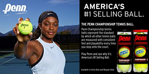 Penn 55108 Tennis Balls Hi-Intensity Yellow 2 can Pack Total of 6 Balls