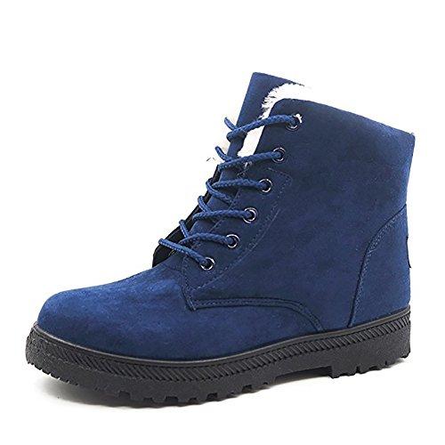 Calde Wicky Blu Da Scamosciata Pelliccia Stivali Ls Basse In Neve Pelle Sneakers Donna Piatte Scarpe 6wUg8q1wTB