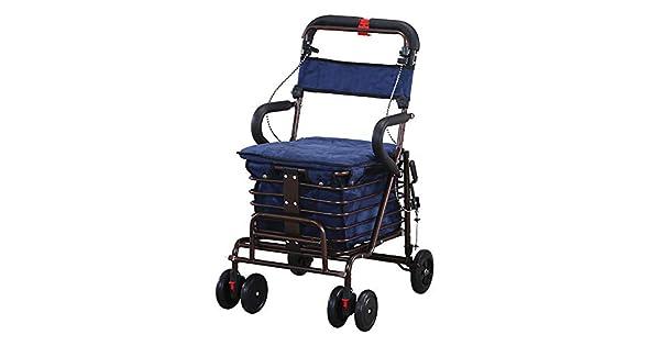 Amazon.com: Qetu - Carro de la compra con frenos para 4 ...