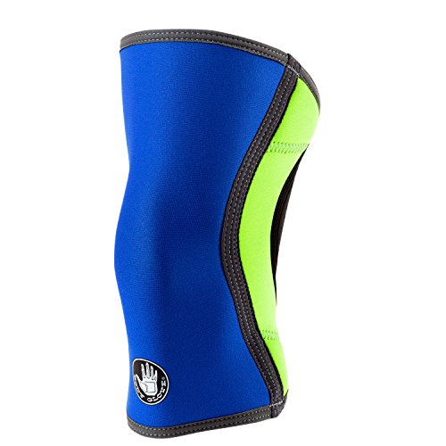 Tam Single (Body Glove 3mm Neoprene Knee Sleeve Support Breathable Anti-Slip Thermal Compression Protector Single Wrap Arthritis ACL Injury Meniscus Tear Joint Pain Relief for Sports, Unisex (Royal & Keylime))
