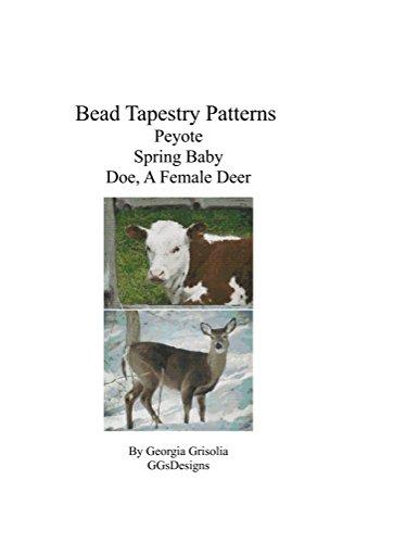 (Bead Tapestry Patterns Peyote Spring Baby Doe, A Female Deer )