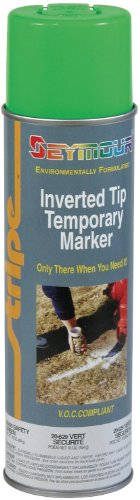 Seymour 20-629 Stripe Temporary Inverted Tip Marker, Safety Green