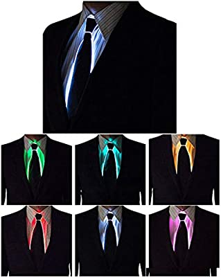 DRhomehouse Wire Tie Cosplay Intermitente LED Tie Traje Corbata ...