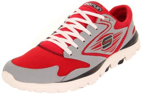 Skechers Performance Men's Go Run Sneaker,Red/Grey,11.5 M US