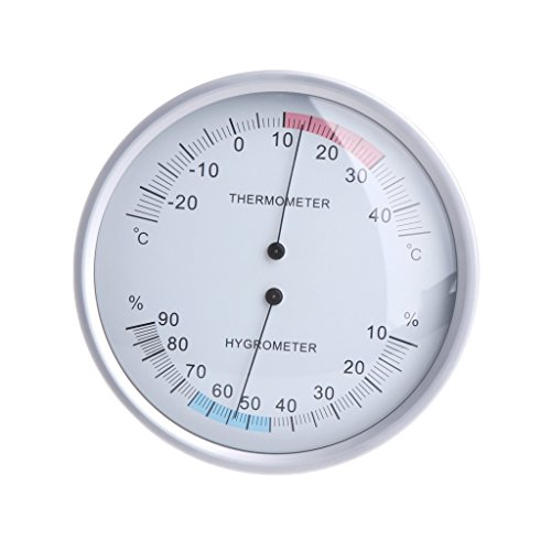 - Yuly 5 Inches Wall Mounted Household Thermometer Hygrometer Analog Temperature Meter
