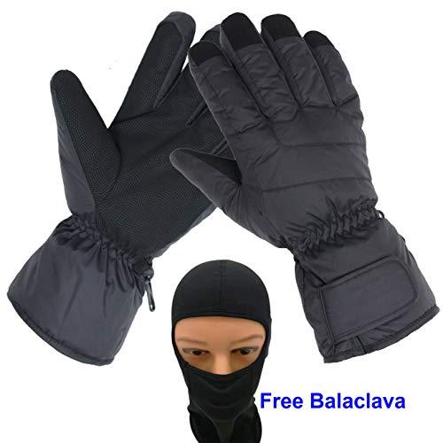 Women Ski Snowboard Gloves Waterproof Cold Weather Glove for Female Lady- Free Balaclava
