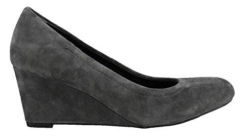 Vionic Womens Lux Camden Wedge Dark Grey Size 8.5