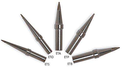 Professional Tip Weller - Genuine Weller Soldering Tip BUNDLE: ETS/ETO/ETA/ETP/ETB Long conical/screwdriver tips