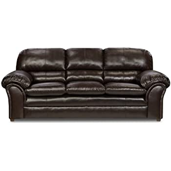 Simmons Upholstery 6159 03 Vintage Riverside Bonded Leather Sofa