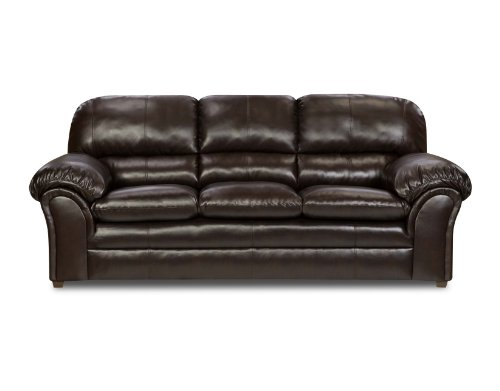Simmons Upholstery 6159-03 Vintage Riverside Bonded Leather Sofa