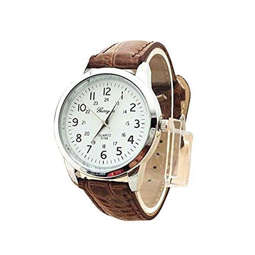 Clearance! Charberry Mens Simple Watch Elegant Analog Luxury Sports Leather Strap Quartz Watch (G) (Leather Quartz Mens Strap)