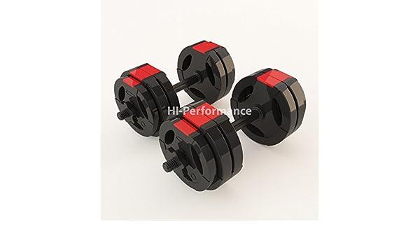 Tri Grip - Juego de mancuernas con discos de 20 kg, 30 kg, 40 kg, 50 kg, barras de entrenamiento negras, 50kg: Amazon.es: Deportes y aire libre