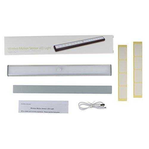 Masterlite Mains Powered Led Cabinet Light Pack Of 3: LED Closet Light,Motion Sensor Light Under Cabinet
