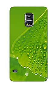 Appearance Snap-on Case Designed For Galaxy S5- Dew On Leaves(best Gifts For Lovers)