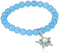 Kenneth Jay Lane Fine Jewelry Sterling Silver, Quartz, Freshwater Pearl, White Topaz and Turquoise…