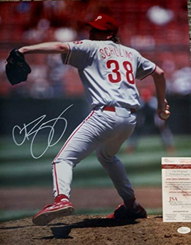 (Autographed Signed Curt Schilling Philadelphia Phillies 16x20 Photo Jsa Certified - Certified Authentic)