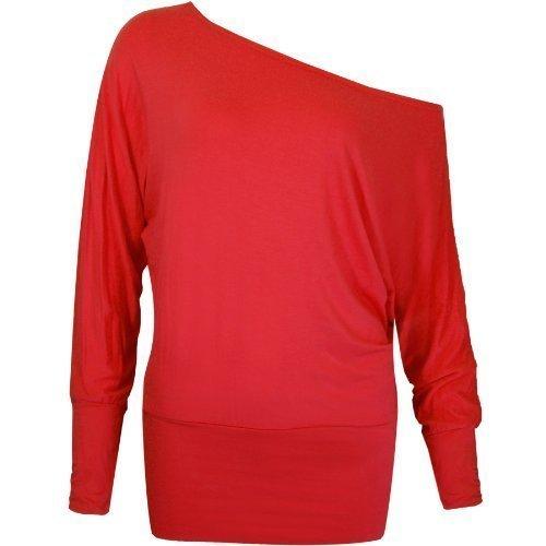 Flirty Wardrobe - Camiseta de manga larga - para mujer turquesa turquesa 40-42 (M/L)