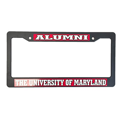 University of Maryland License Plate Frame/Tag For Front Back of Car Officially Licensed (Alumni - Plastic - Ford Veterans Orleans New