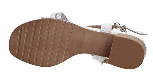 IGI&CO 7839100 sandalo donna in pelle intreccio bianco argento