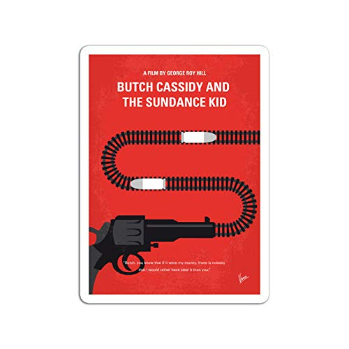 BreathNenStore Sticker Motion Picture No585 My Butch Cassidy and The Sundance Kid Minimal MOV Movies Video Film (3