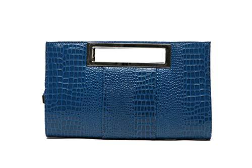 Moda 2018 Personalidad 31x5x18cm Femenina Blanco Bolso Azul Color de Mar vT6qF6wf