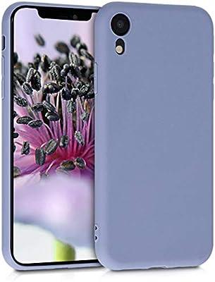 kwmobile Funda para Apple iPhone XR - Carcasa para móvil en [TPU Silicona] - Protector [Trasero] en [Gris Lavanda Mate]