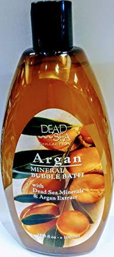 Dead Sea Collection Argon Mineral Bubble Bath with Dead Sea Minerals & Argan Extract 33.8 Oz