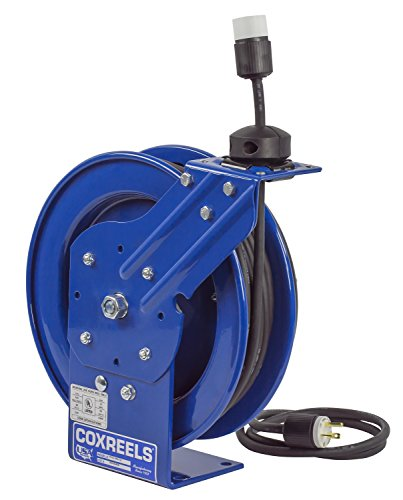 Coxreels PC13-5016-A Spring Rewind SJO Power Cord Reel, 115 Volts, 13 Amp, 50' Length