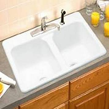 eljer dumount kitchen sink 2 bowl 212 1089 96 - Eljer Kitchen Sinks