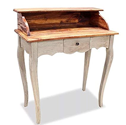 Amazoncom Vintage Writing Desk Small Side Table Antique Country