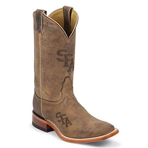 Nocona Mens MDSFA12 Stephan F Austin University Collegiate Laser Boots-Brown 12.0 D