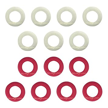 Amazon.com : Small Rubber Rings for Bumper Pool Table: 7 Red and 7 ...