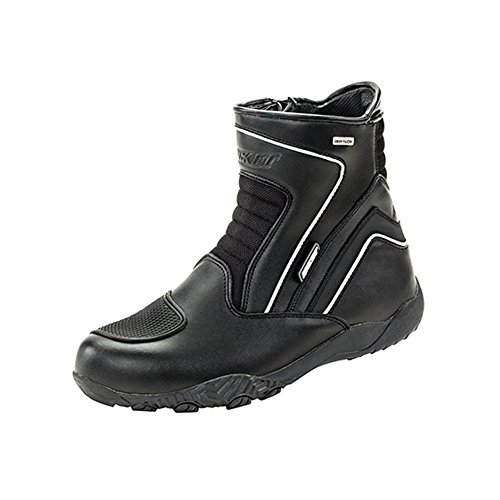 Black, Size 8 Joe Rocket Mens Meteor FX Mid Leather Motorcycle Riding Boot