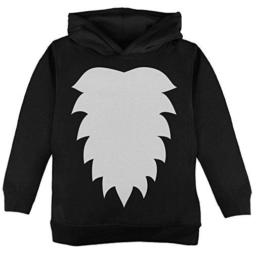 Skunk Costume Black Toddler Hoodie - 4T