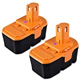 2 Pack 3800mAh for Ryobi 18v Battery Replacement