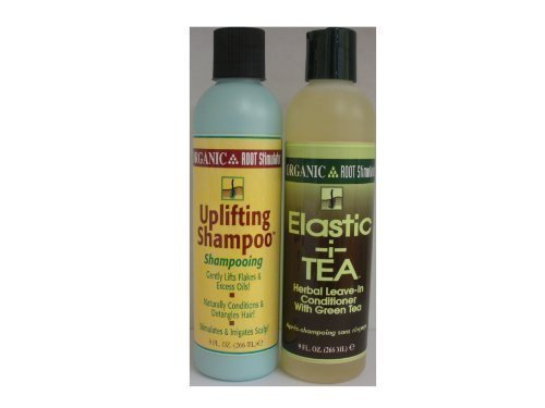 Organic Root Stimulator Health Hair and Scalp Combo Set-I (Uplifting Shampoo 9oz & Elastic-i-Tea Leave-In conditioner 9oz) by Organic Root Stimulator
