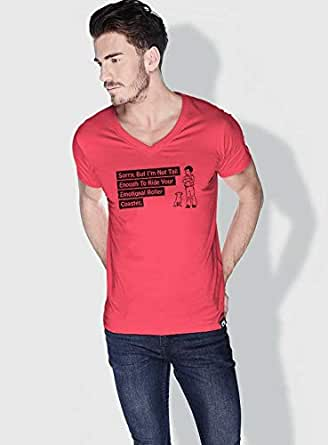 Creo Not Tall Enough Funny T-Shirts For Men - S, Pink