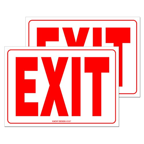 (Set of 2) Exit Sign | 10
