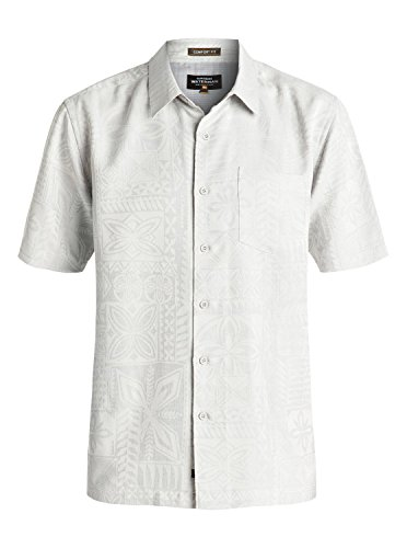 Quiksilver Mens Aganoa Bay 4 Comfort Fit Button Down Casual Shirt  Glacier  Xl