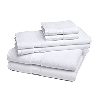 eLuxurySupply Bamboo Towel Set Super Soft and Absorbent - 6 Pieces -, White (B00G3NBN8Q)   Amazon price tracker / tracking, Amazon price history charts, Amazon price watches, Amazon price drop alerts
