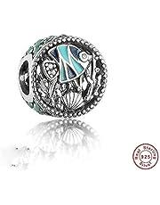 MOCCI 2017 Verano de verano de vida de los pescados de mar de los corales de cristal DIY se adapta a las pulseras originales de Pandora auténtica 925 joyas de plata esterlina
