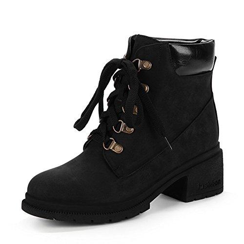 Casual Black Womens Slip ABL10280 Boots Urethane Resistant BalaMasa CA5fqT