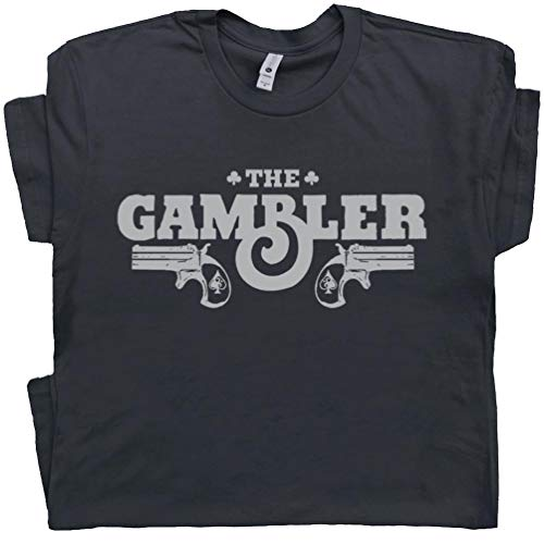 XL - The Gambler T Shirts Las Vegas Shirt Country Outlaws Music Rockabilly Poker Vintage 80s Graphic Tees Black