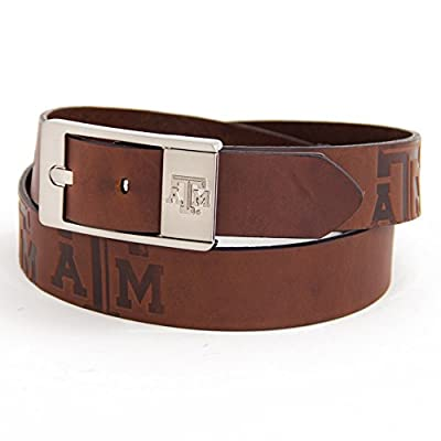 Eagles Wings Texas A&M Aggies Brown Leather Belt