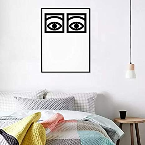 Ochoos Olle Eksell Eyes Cacao Poster Canvas Art Print Home Decor Eyes Minimal Art Design Cacao Modern Canvas Painting Wall Pictures - Size Inch : 15x20cm, Color: no Frame